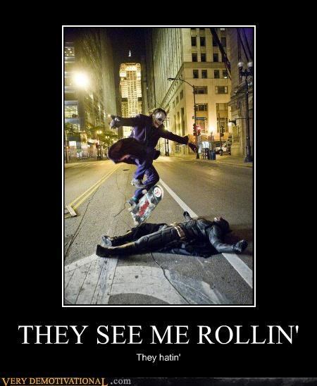 hatin-batman joker rolling - 4388693760