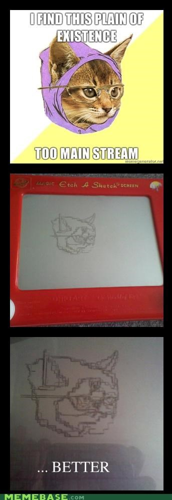 Etch A Sketch,Hipster Kitty,magnets,mainstream