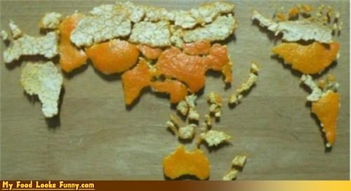 citrus map orange orange peel world - 4388980480