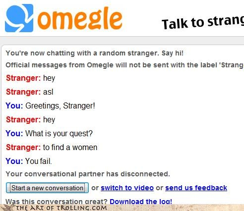 monty python Omegle quest sexychat - 4389447168