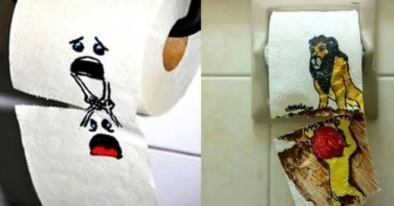 Collection of funny toilet pictures that ended up looking more like art than vandalism.