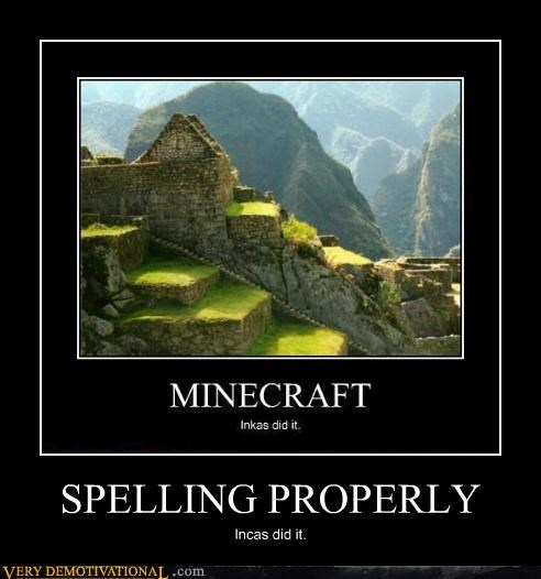 minecraft incas spelling - 4389830912