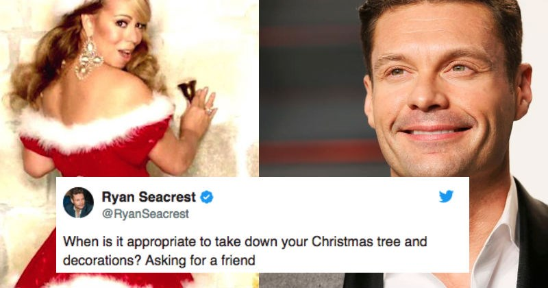Mariah Carey issues a ridiculous order on Twitter over when it's okay to take down that Christmas tree.