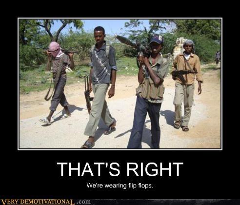 guns,africa,flip flops