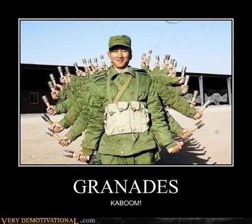 GRANADES KABOOM!