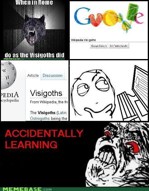 ha ha made you learn Memes raisin face visigoths wikipedia - 4390841088