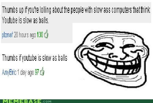 balls slow thumbs up trollface youtube - 4391256832