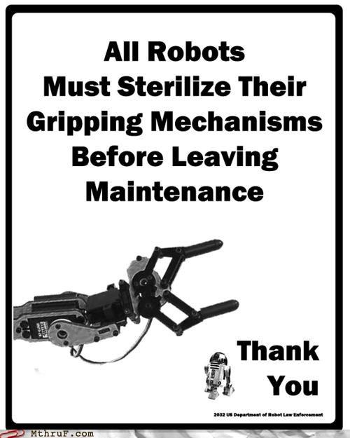 bathroom poster robot sterilization - 4391512064