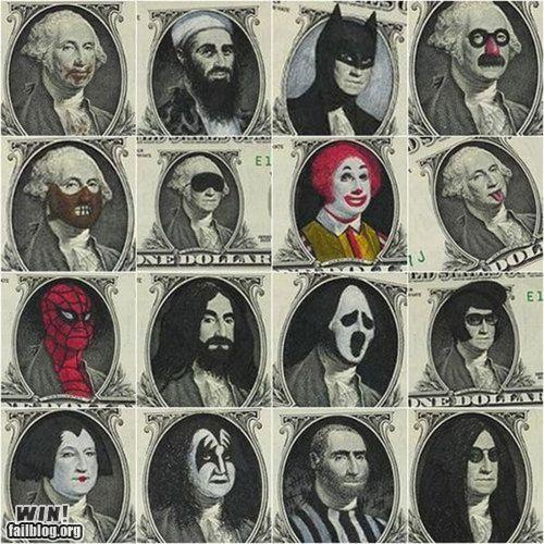 art dollar bill hacked politics - 4391575552