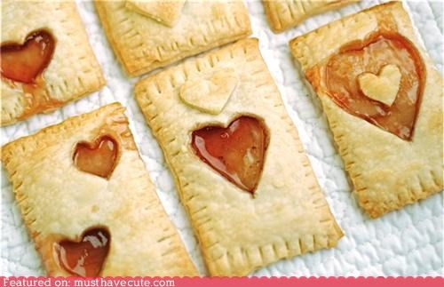 cut out,epicute,heart,home made,pop tarts,valentine