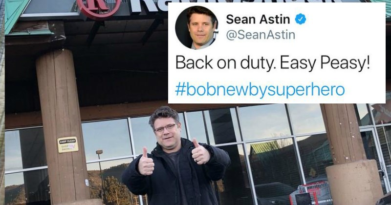 Sean Astin Takes A Photo Next to A Remaining Radio Shack and the Internet Can't Handle It