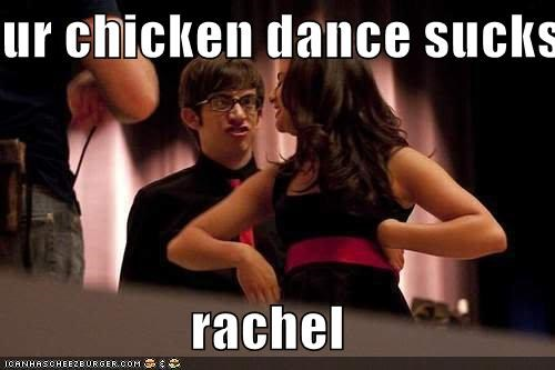 chicken dance derp Macarena rachel school