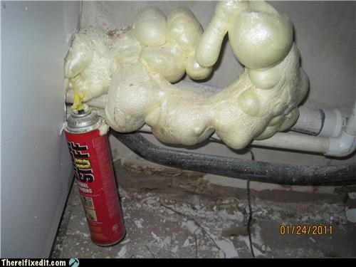 foam pipes plumbing wtf - 4392629504