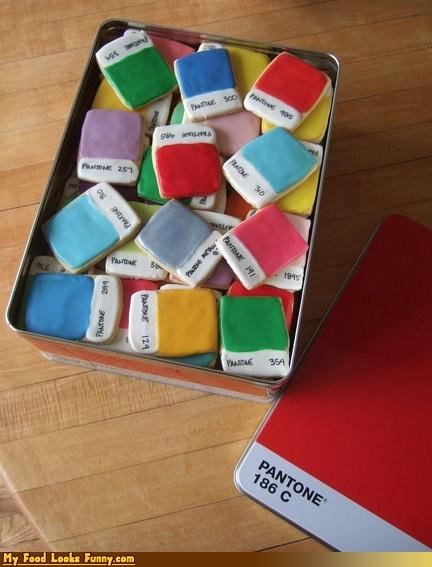 color,colors,cookies,pantone,pantone chip cookies,pantone cookies,Sweet Treats