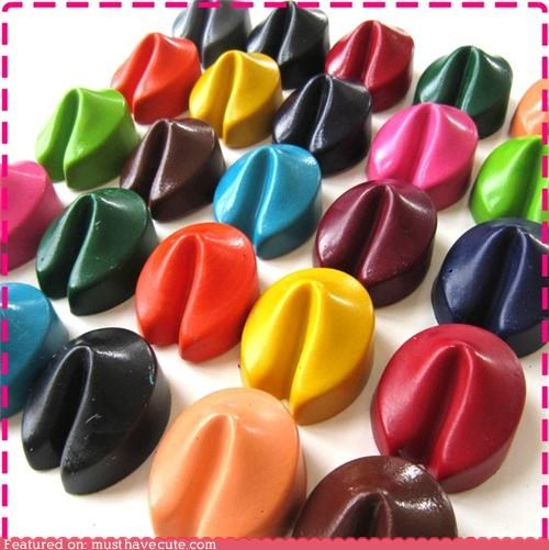 art coloring crayons fortune cookies - 4393324288