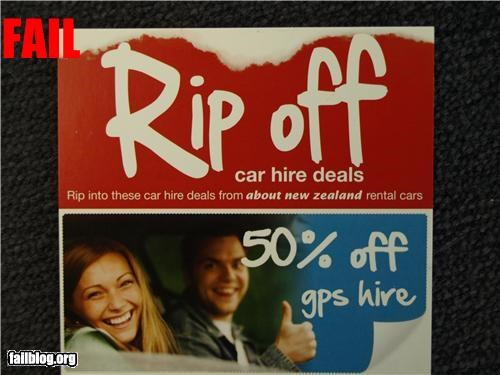 bad idea,business,failboat,g rated,name,rental cars,rip off