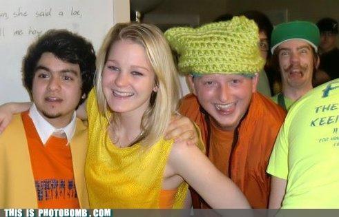 epic kids having fun mustache Party photobomb - 4393705984