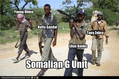 Somalian G Unit Young Rhino Haffa Sandal Tony Zebra Llion Banks