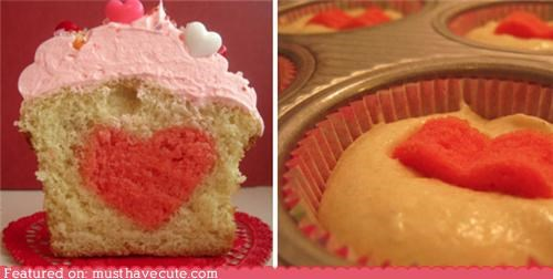 cupcake epicute heart hidden surprise