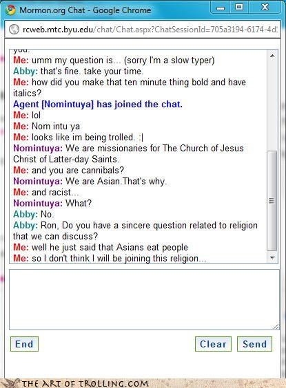 asians cannibals Mormon Chat nom weird names - 4394678528