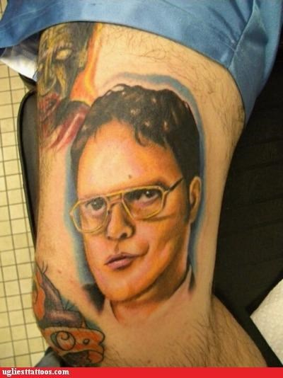the office,dwight schrute,tattoos,funny