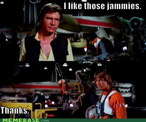 Han Solo,jammies,luke skywalker,Memes,star wars