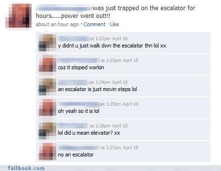 escalators facepalm stairs stupid - 4394999296