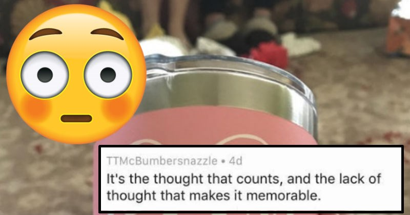 Mom goes viral on the internet for accidentally buying her daughter a gift that spells out an awkward word on container.