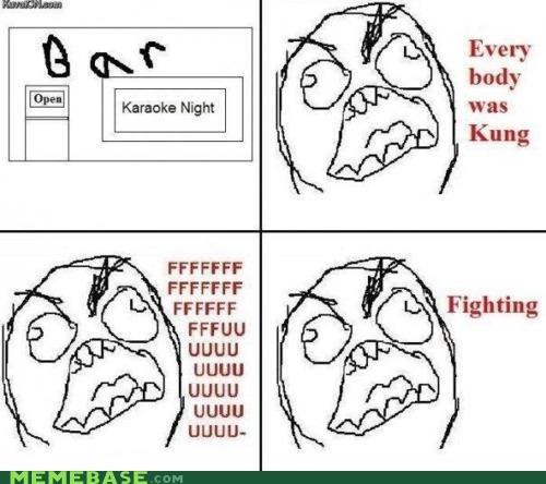 karaoke,kung fu,Rage Comics