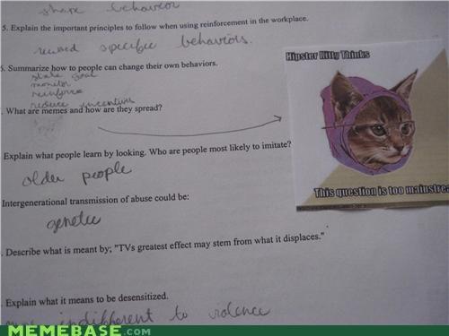 homework mainstream question school test The Internet IRL - 4395369216