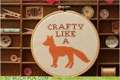 aardwolf art artsy crafts crafty embroidery fox hip literalism - 4395450624