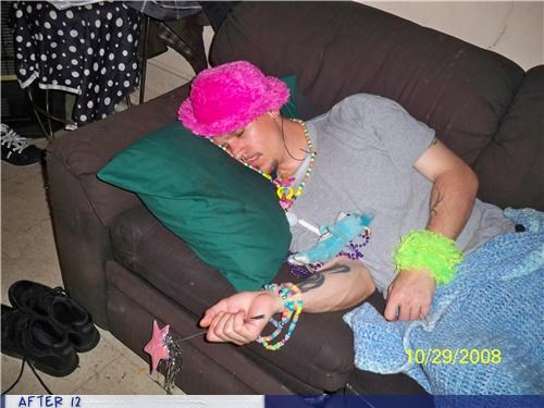 couch fairy hat passed out pink - 4395532032