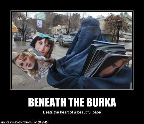 BENEATH THE BURKA Beats the heart of a beautiful babe