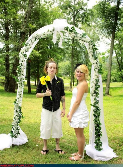 bride Crazy Brides crazy groom fashion is my passion funny groom picture funny wedding photos groom hippie groom lame groom speshul groom surprise ummm were-in-love white guy with dreadlocks wtf - 4395636480