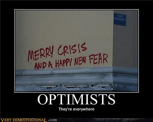 crisis fear graffiti optimists Sad