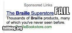 Ad braille facepalm failboat g rated online see - 4395678720