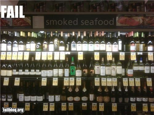 alcohol,failboat,food,g rated,grocery store,sign,smoked seafood