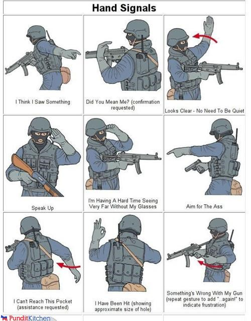 guide,hand signals,infographic,military,special forces,swat