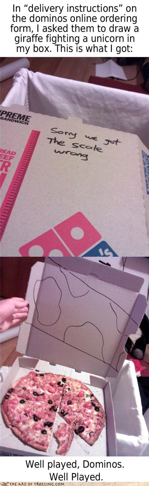boxes dominos fight giraffes IRL pizza unicorn - 4395927296
