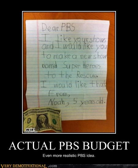 ACTUAL PBS BUDGET Even more realistic PBS idea.