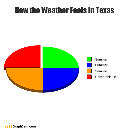 hell hot Pie Chart season summer sun texas