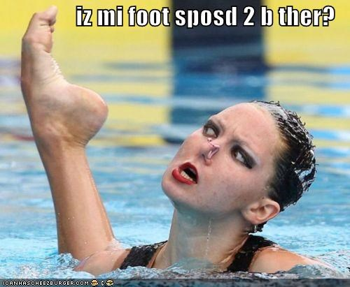 derp foot olympics pool Sportderps swimmer - 4396420096