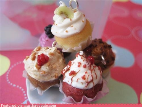 Charms,cupcakes,miniature,sweets