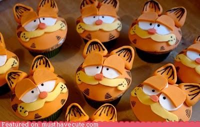 cat child comic cupcakes epicute garfield - 4398385408