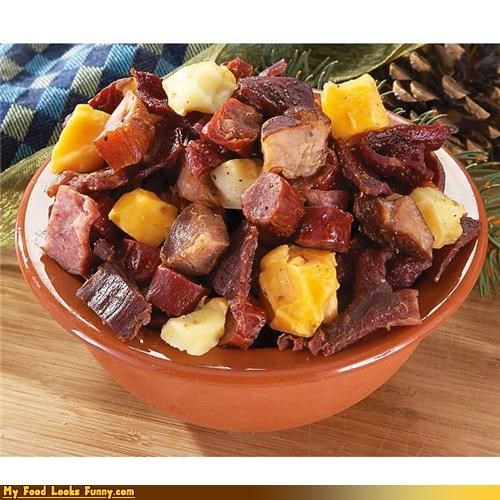 cheese dried meat sealed snack trail mix - 4398406144