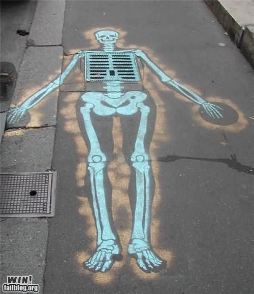 art graffiti hacked skeleton - 4398564608