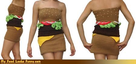 cheeseburger,dress