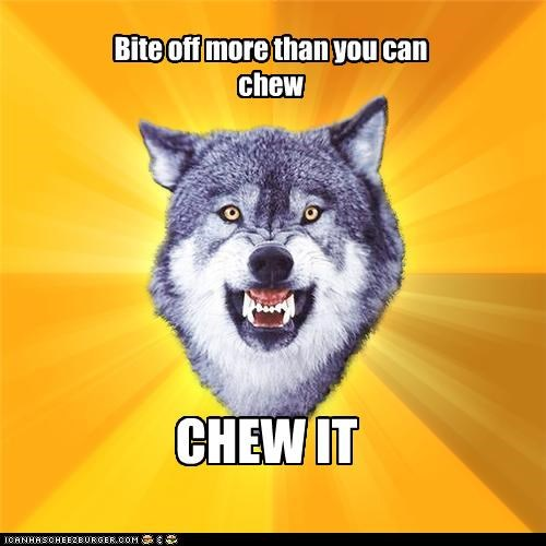 bite,chew,Courage Wolf,tasty