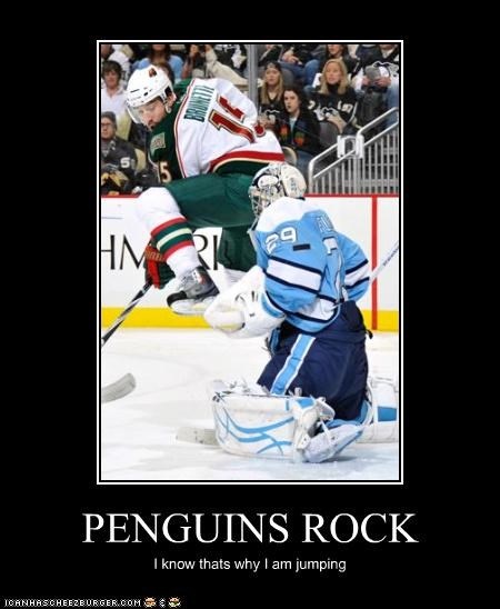PENGUINS ROCK I know thats why I am jumping