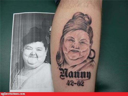 wtf portraits tattoos funny - 4399654144